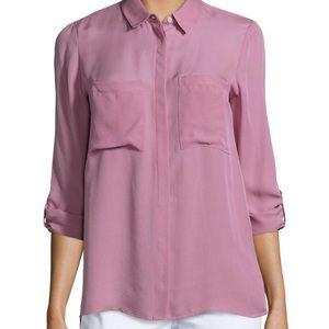 Haute hippie silk button up blouse